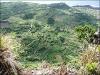 Flores - Blick auf Fajã Grande vom Rand der Steilwand