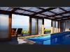 Quinta da Meia Eira - Überdachtes Schwimmbad mit Meerblick