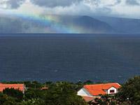 Meerblick mit Regenbogen