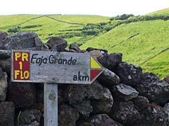 Wegweiser nach Faja Grande