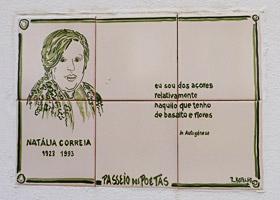 Natália Correia auf dem Passeio dos Poetas