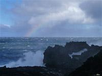 Lavabogen und Regenbogen