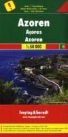 Wander- und Autokarte Azoren