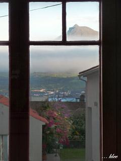 Blick von der Casa de Chá in Horta auf Pico