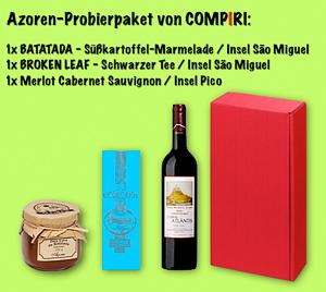 Compiri-Probierpaket mit Azoren-Spezialitäten