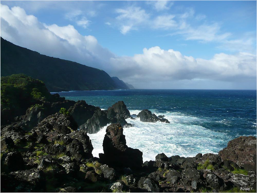São Jorge: Stürmische Nordküste