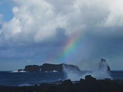 Felsen im Atlantikkanal: Der Liegende und der Stehende