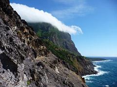 Südküste Flores - Schwierige Stelle des Küstenpfades