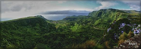 Fajã Grande - Westküste der Insel Flores (Panorama)