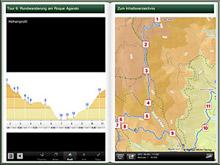 MM-Wandern App Madeira (Ansicht auf dem iPad)