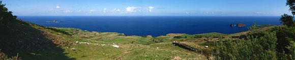 Panorama-Blick vom Rundweg um Graciosas Caldeira
