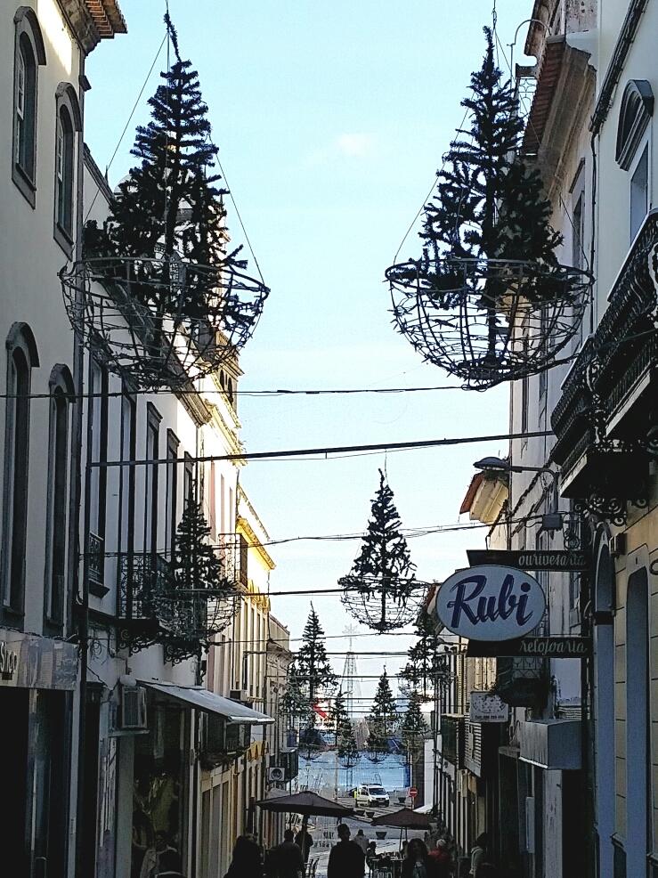 Weihnachtsbäume schwebend