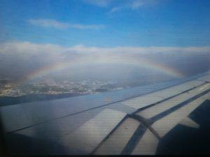 Regenbogen über Ponta Delgada
